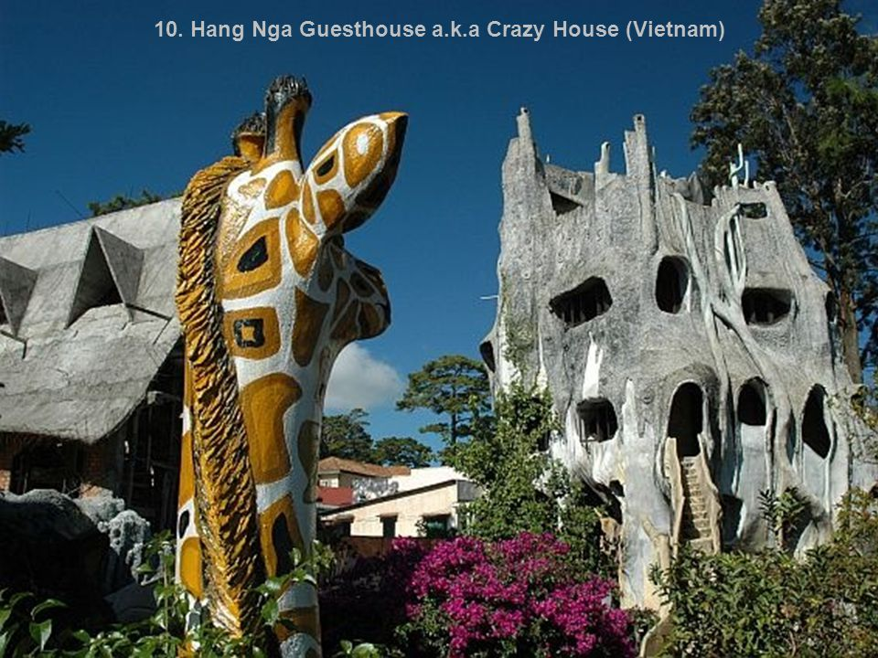 10. Hang Nga Guesthouse a.k.a Crazy House (Vietnam)