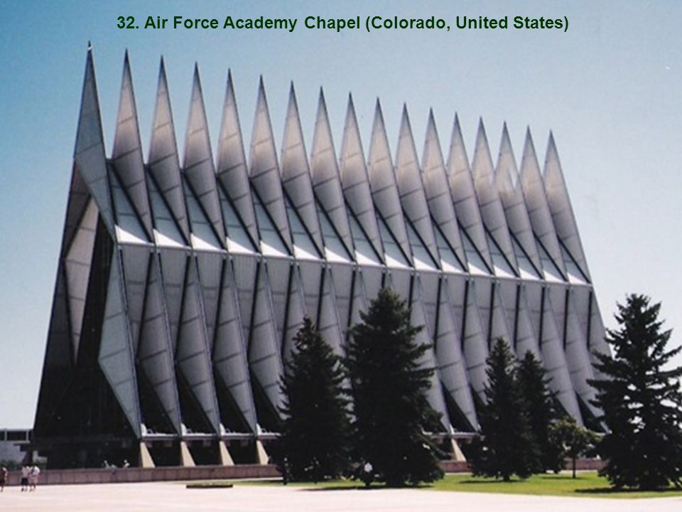 32. Air Force Academy Chapel (Colorado, United States)
