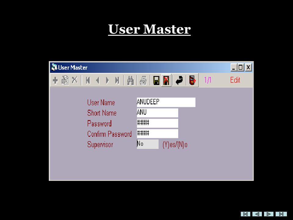 User Master