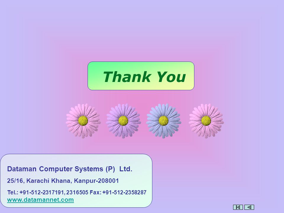 Thank You Dataman Computer Systems (P) Ltd.