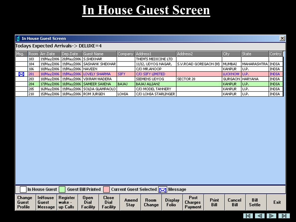 In House Guest Screen
