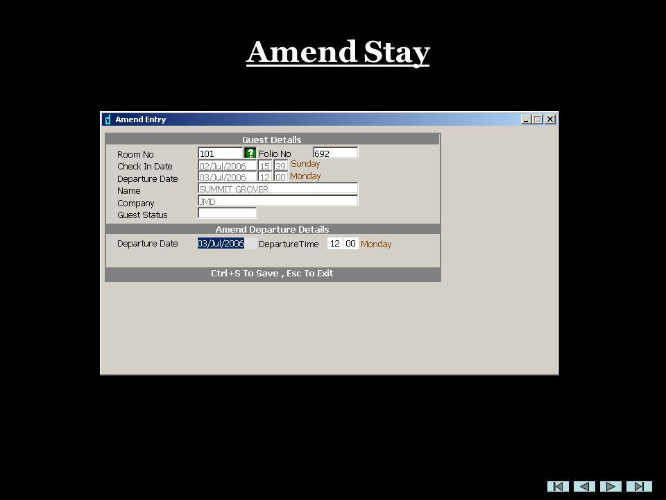 Amend Stay