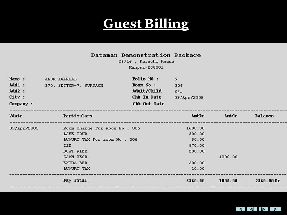 Guest Billing