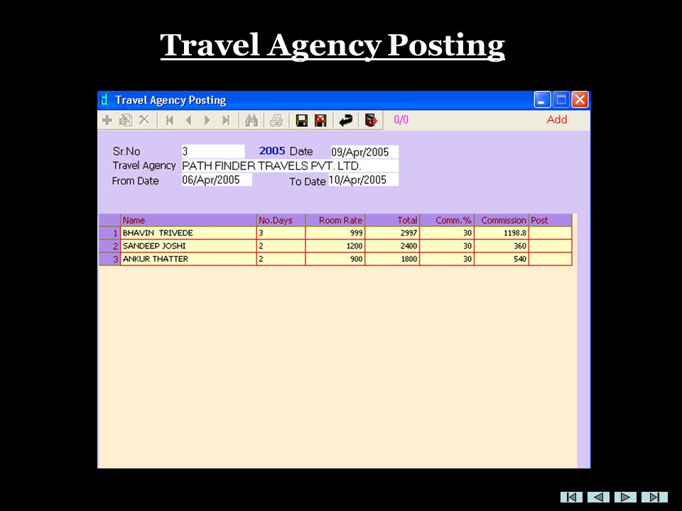 Travel Agency Posting