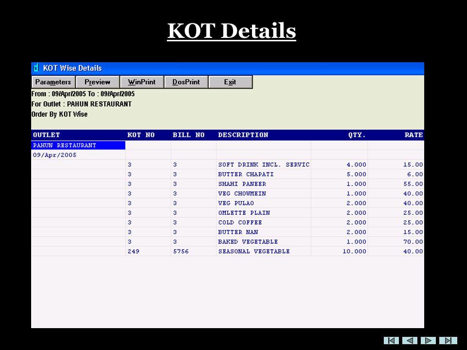 KOT Details