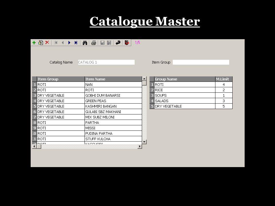 Catalogue Master
