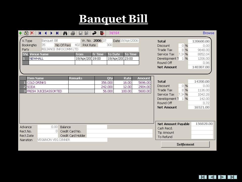 Banquet Bill