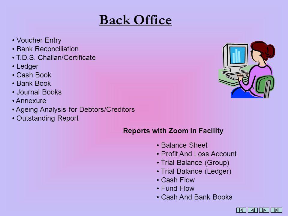 Back Office Voucher Entry Bank Reconciliation