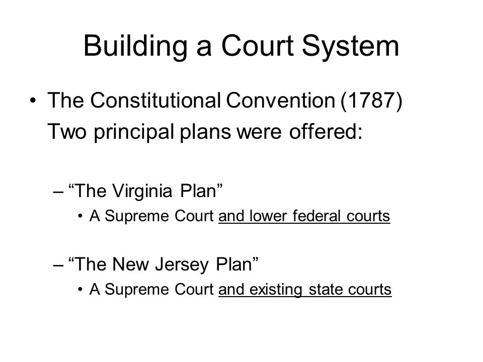 Building a Court System