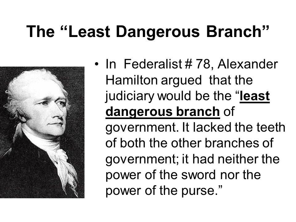 The Least Dangerous Branch
