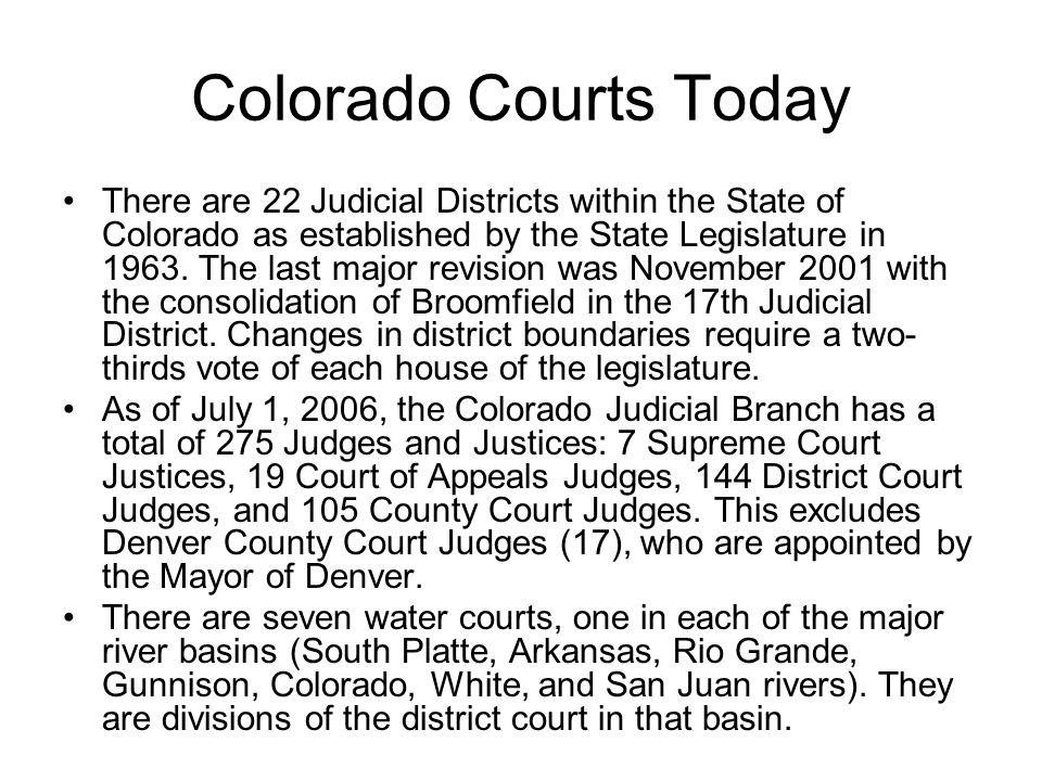 Colorado Courts Today