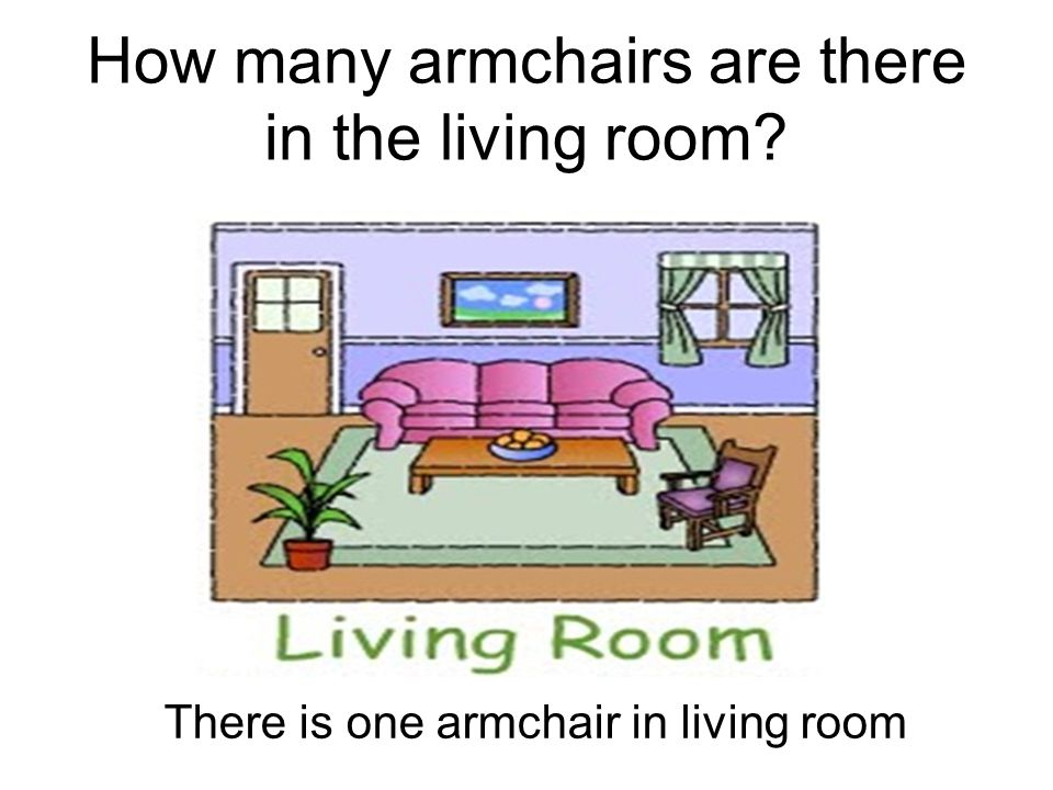 How many armchairs are there in the living room