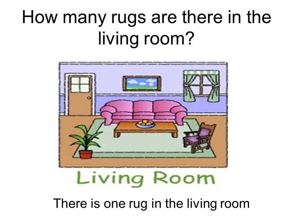 How many rugs are there in the living room