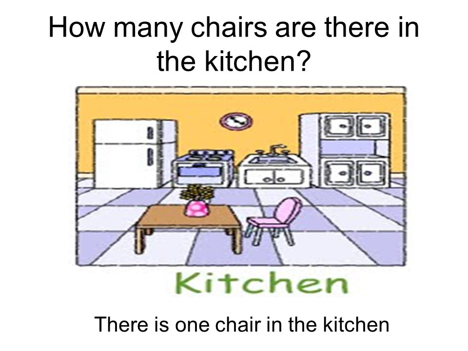 How many chairs are there in the kitchen