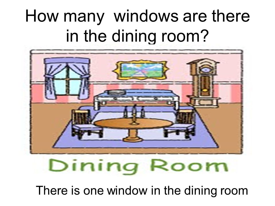 How many windows are there in the dining room