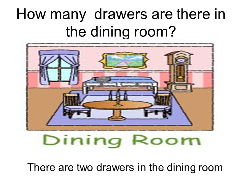 How many drawers are there in the dining room