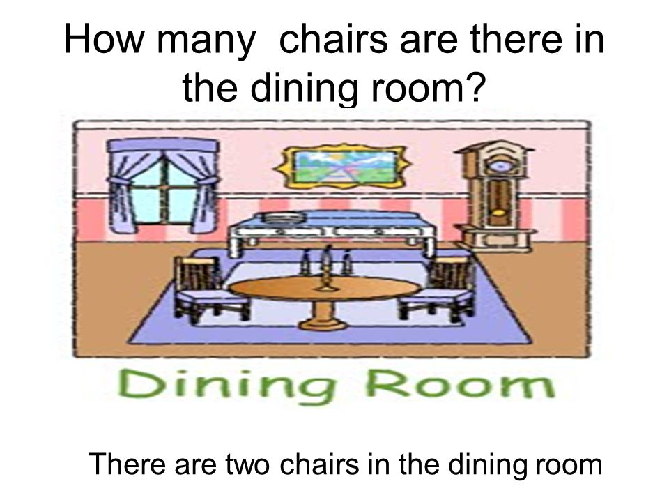 How many chairs are there in the dining room