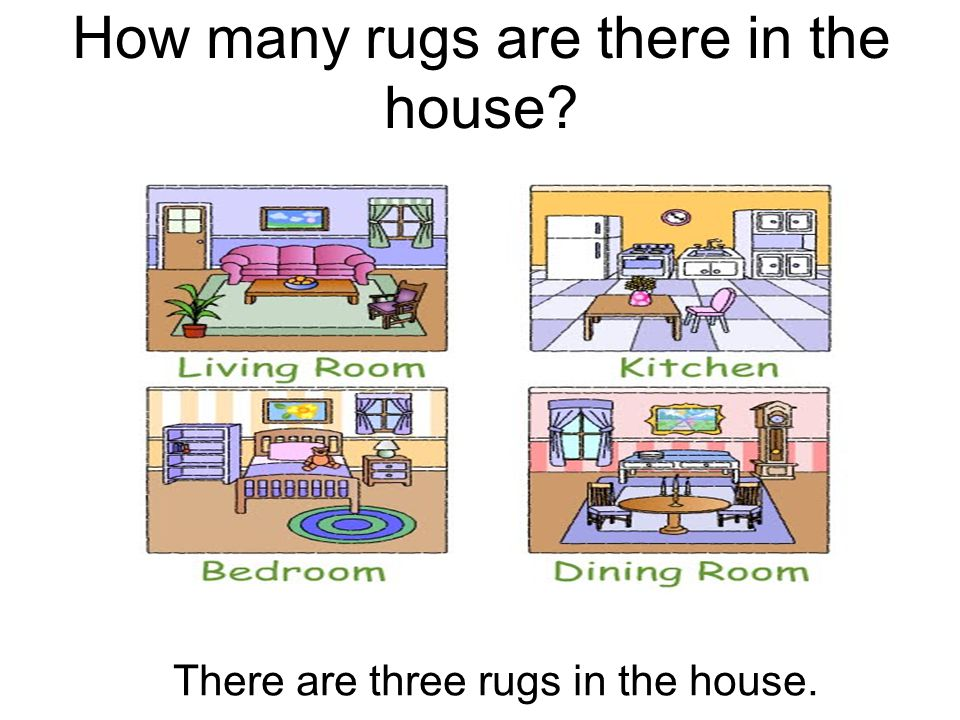 How many rugs are there in the house