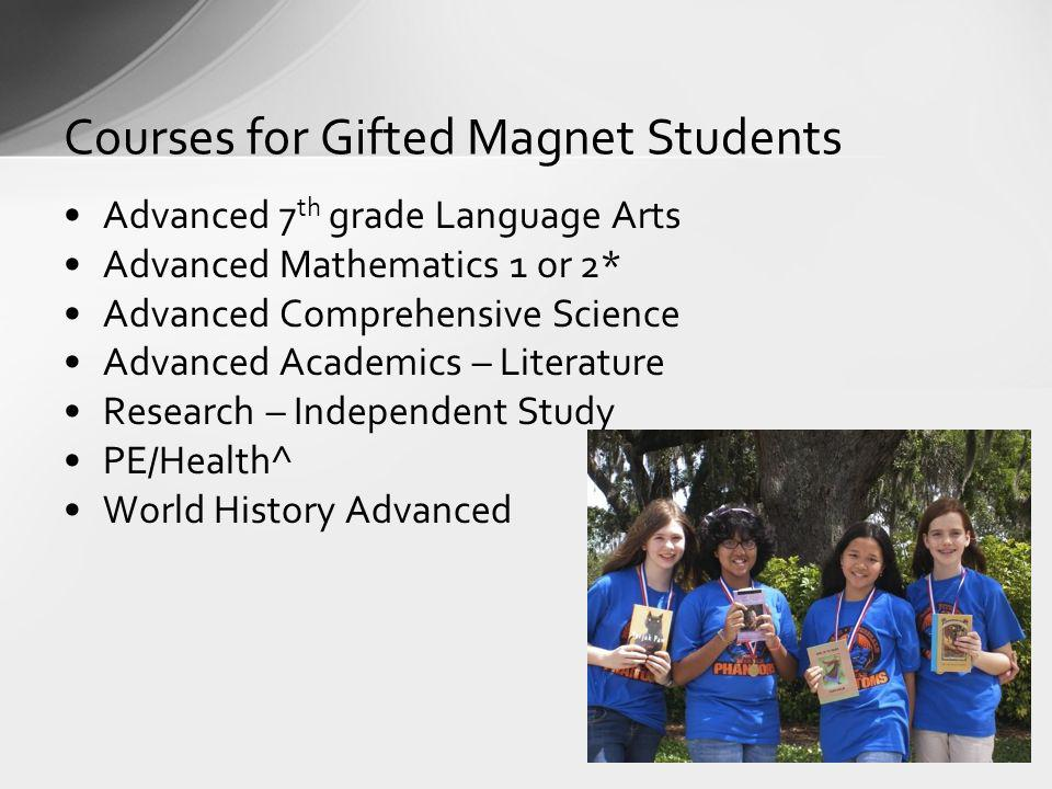 Courses for Gifted Magnet Students