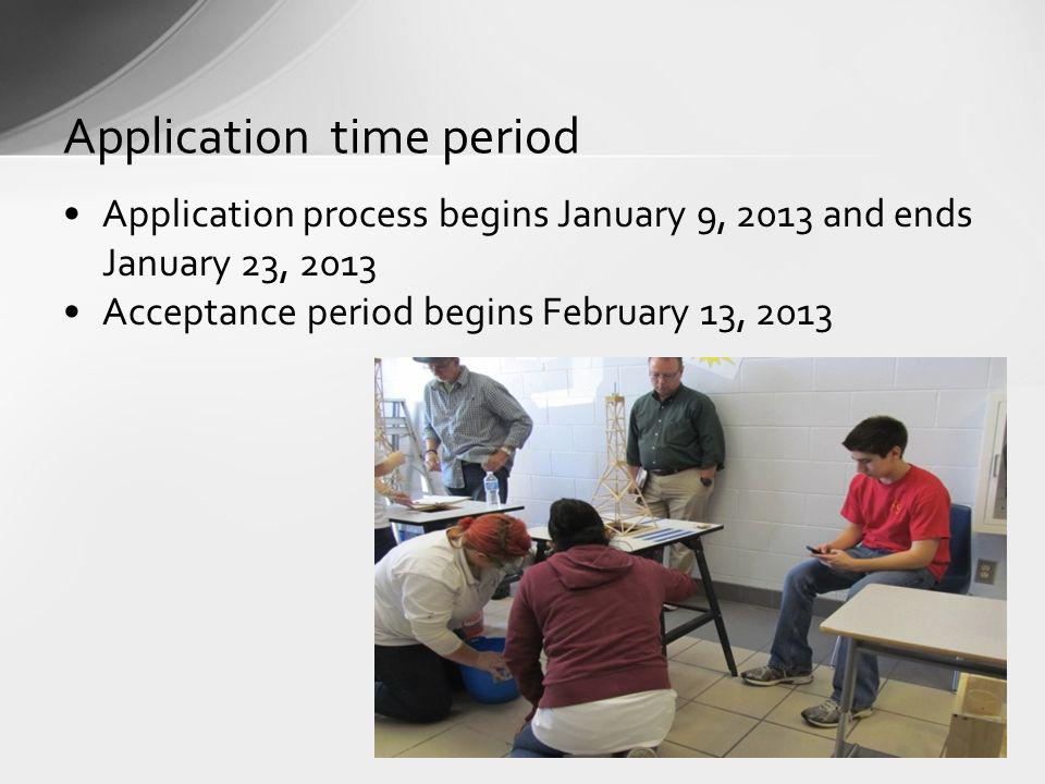 Application time period