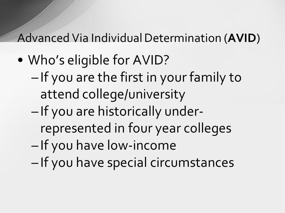 Advanced Via Individual Determination (AVID)
