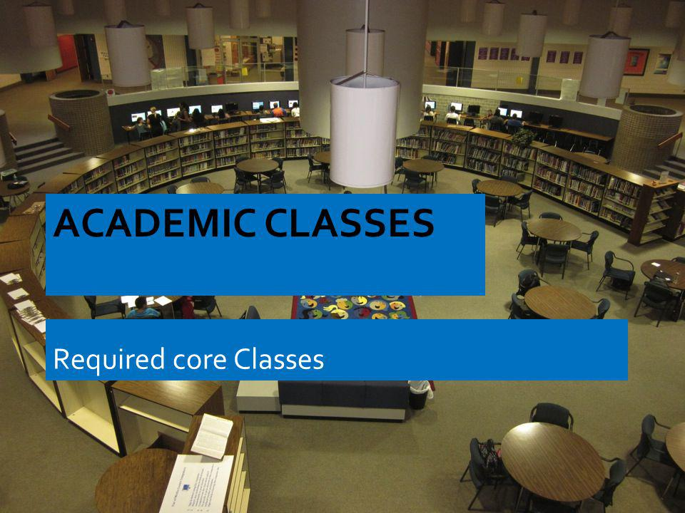 Academic Classes Required core Classes