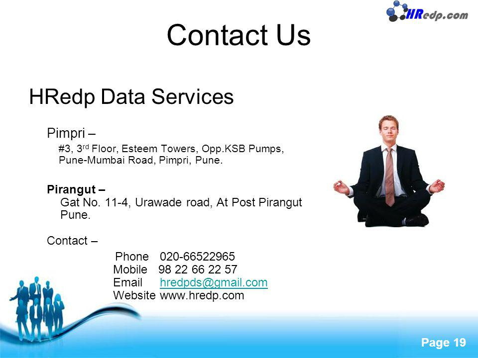 Contact Us HRedp Data Services Pimpri –