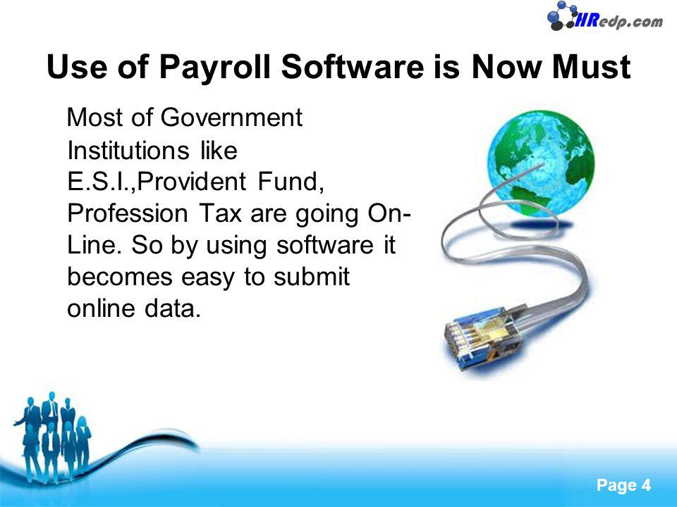 Use of Payroll Software is Now Must