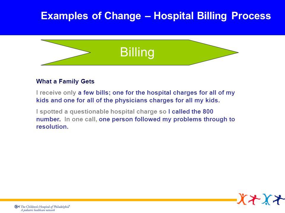 Billing Examples of Change – Hospital Billing Process