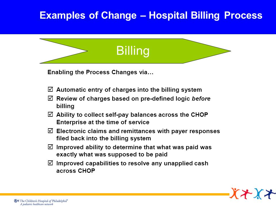 Billing Examples of Change – Hospital Billing Process