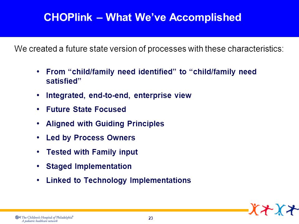 CHOPlink – What We've Accomplished