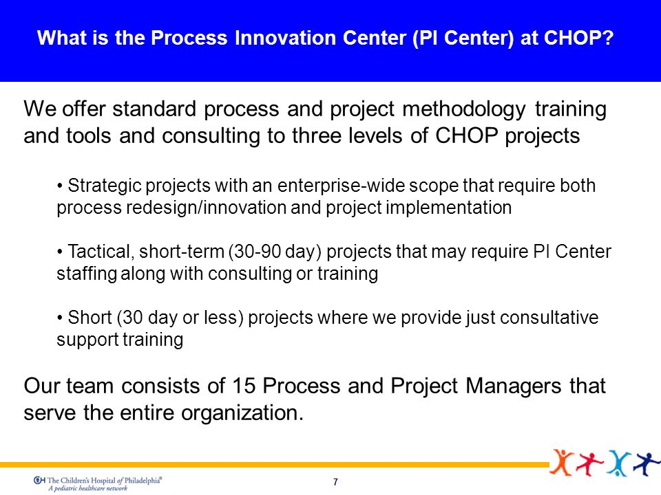 What is the Process Innovation Center (PI Center) at CHOP