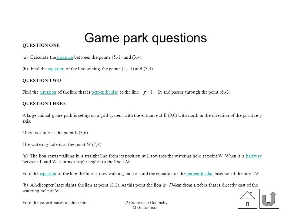 Game park questions QUESTION ONE