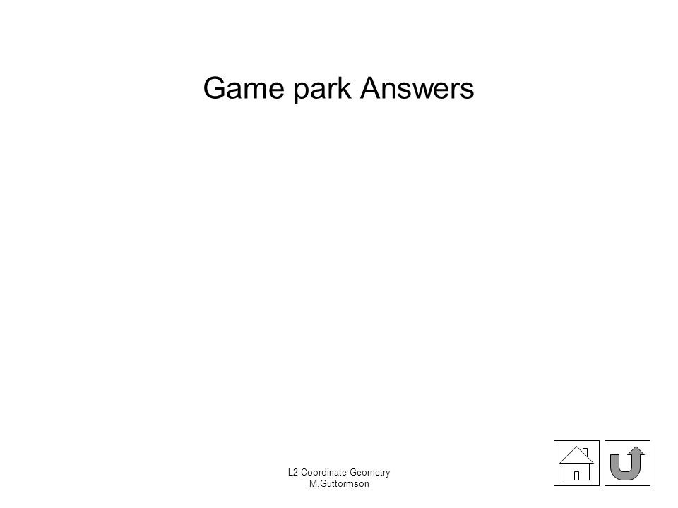 Game park Answers L2 Coordinate Geometry M.Guttormson