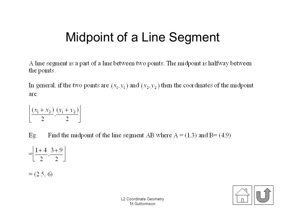 Midpoint of a Line Segment