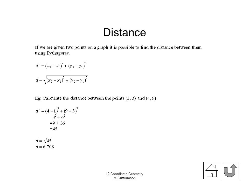 Distance Exercise 18.02 pages 215 (Theta) L2 Coordinate Geometry