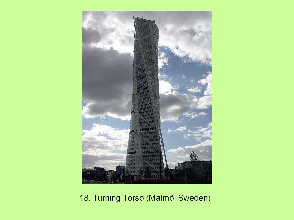 18. Turning Torso (Malmö, Sweden)