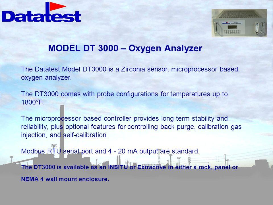 MODEL DT 3000 – Oxygen Analyzer