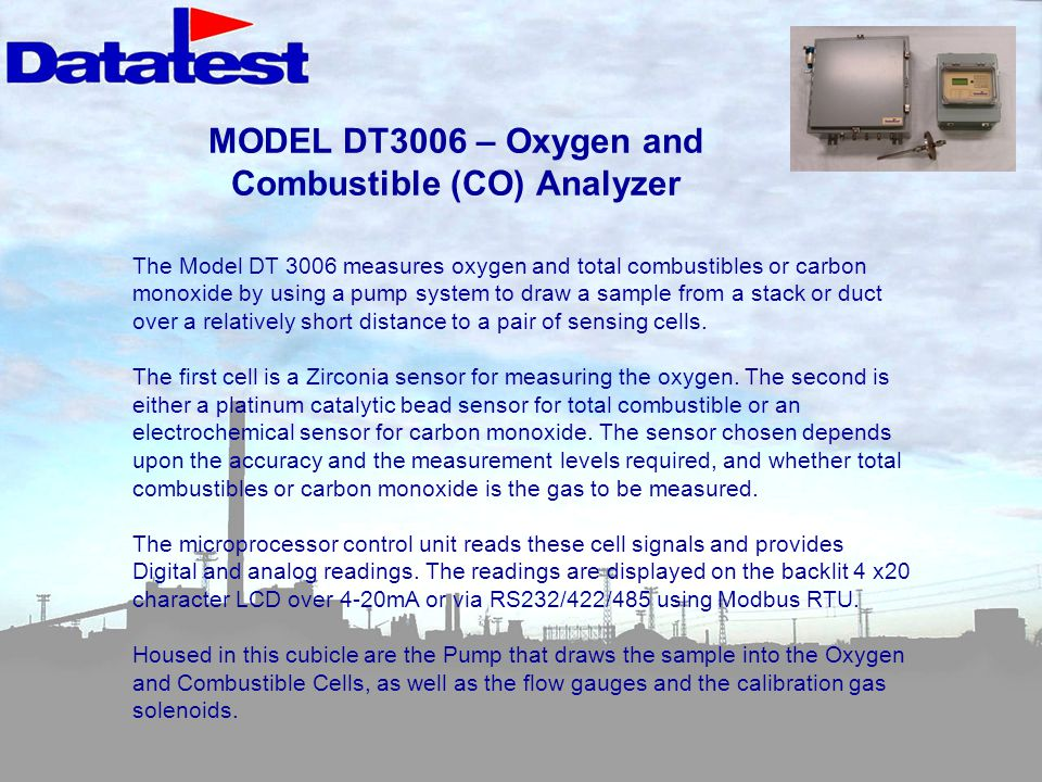 MODEL DT3006 – Oxygen and Combustible (CO) Analyzer