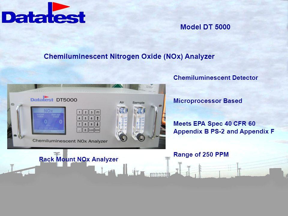 Chemiluminescent Nitrogen Oxide (NOx) Analyzer