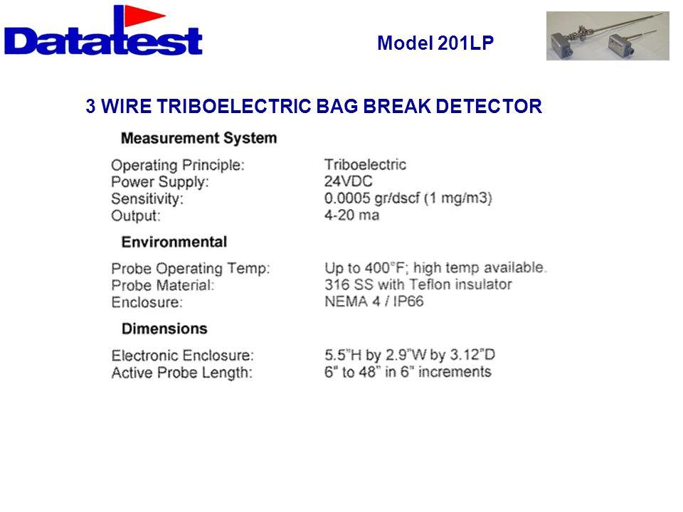 3 WIRE TRIBOELECTRIC BAG BREAK DETECTOR