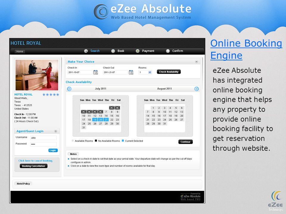 Online Booking Engine.