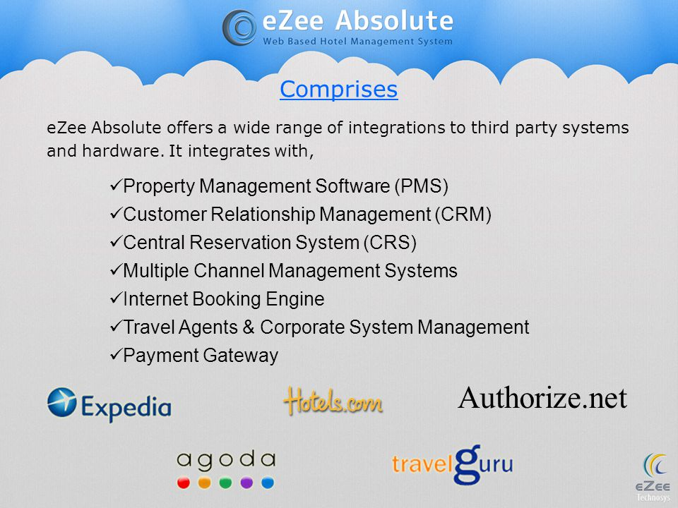 Authorize.net Comprises Property Management Software (PMS)