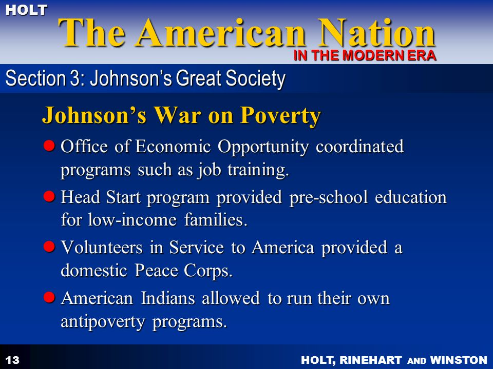 Johnson's War on Poverty