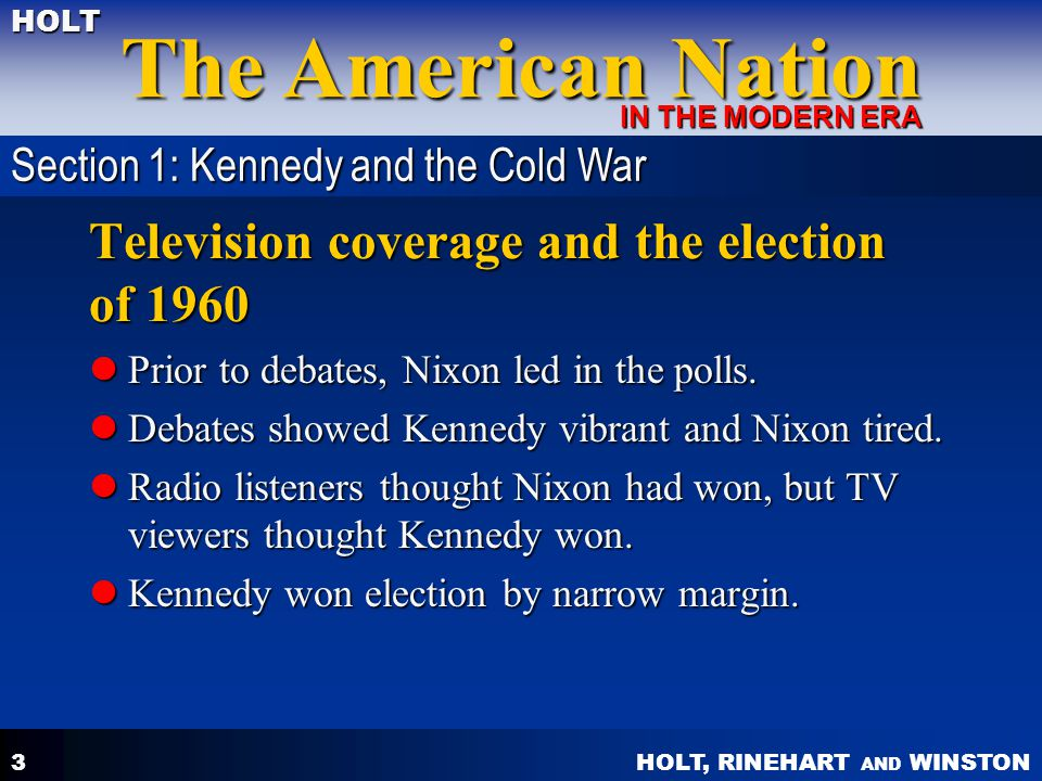 Television coverage and the election of 1960