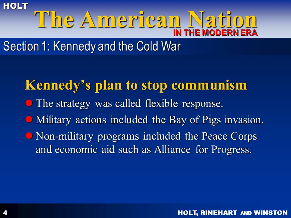 Kennedy's plan to stop communism