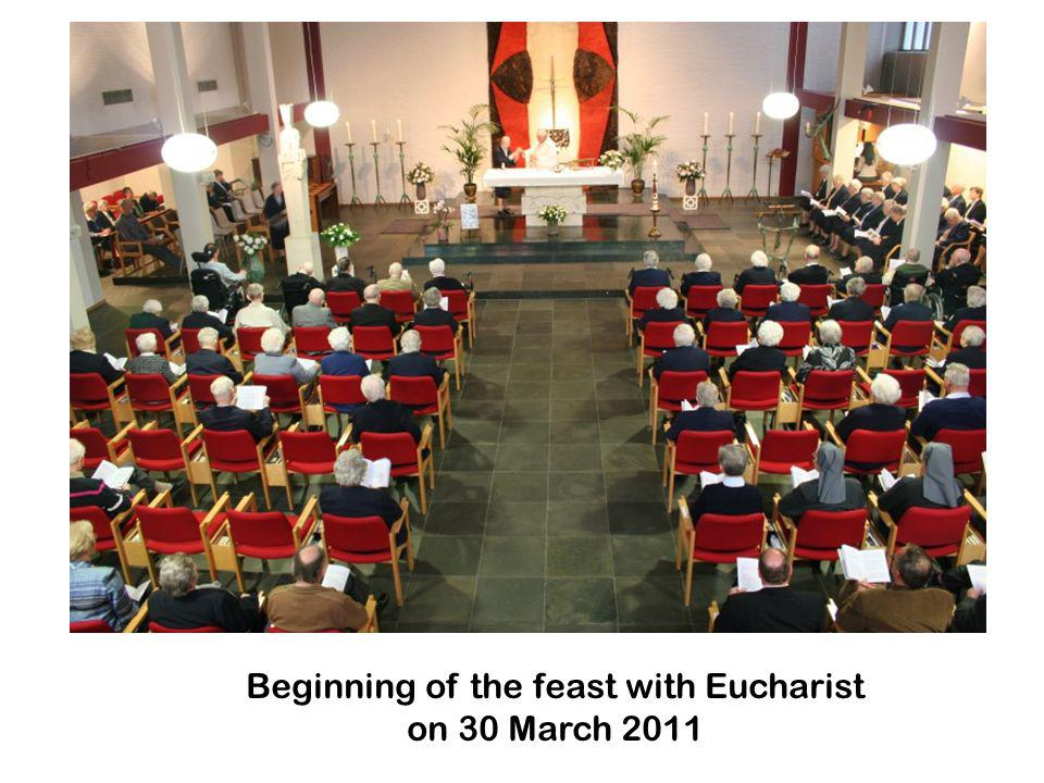 Beginning of the feast with Eucharist on 30 March 2011
