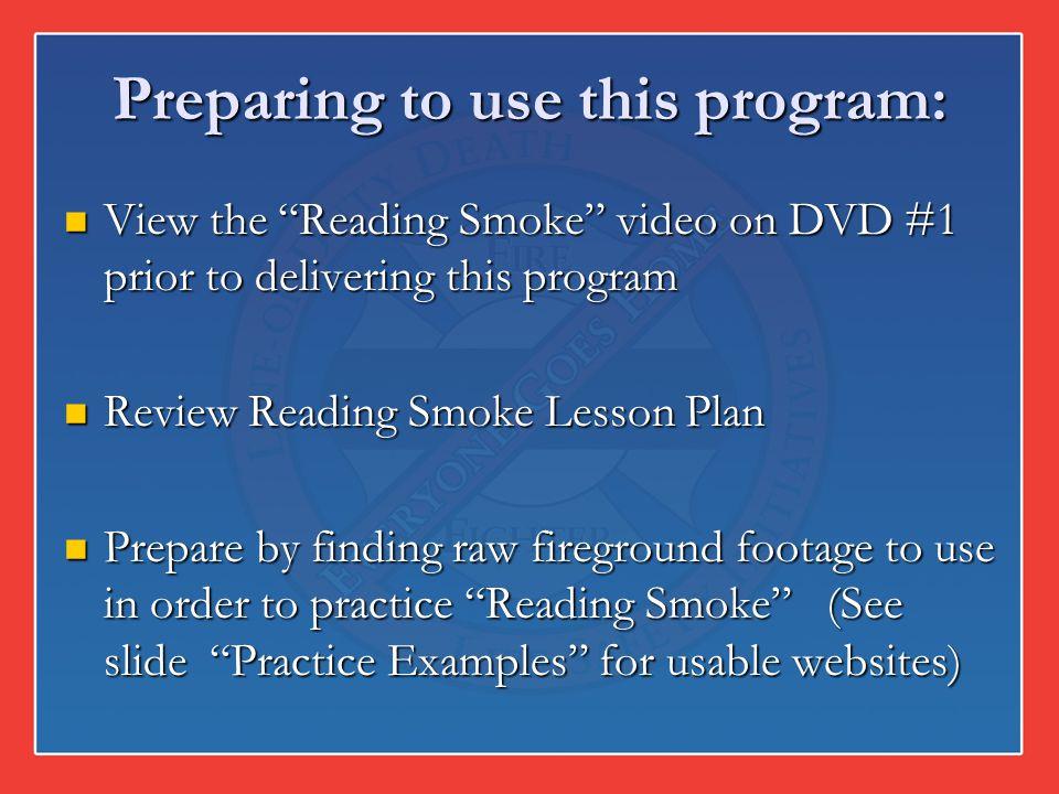 Preparing to use this program: