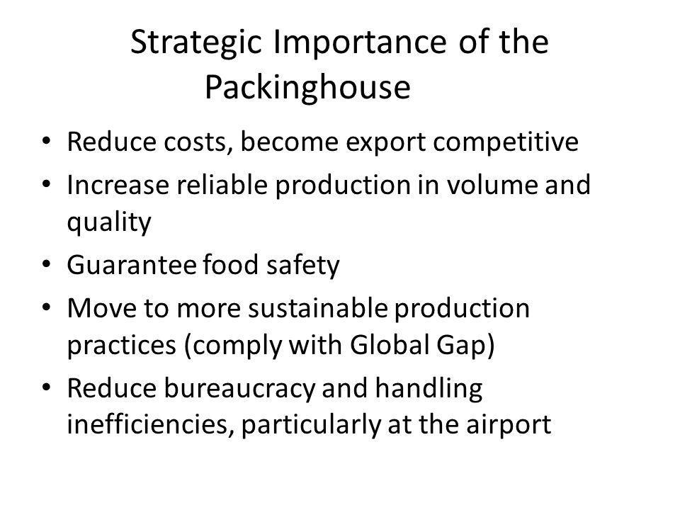 Strategic Importance of the Packinghouse