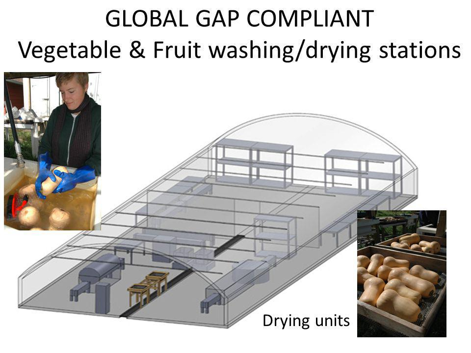 GLOBAL GAP COMPLIANT Vegetable & Fruit washing/drying stations